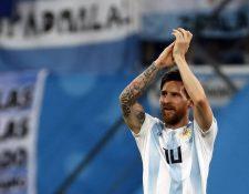 Messi anotó el primer gol del partido y encaminó a su Selección hacia un triunfo histórico en la Copa del Mundo. (Foto Prensa Libre: EFE)