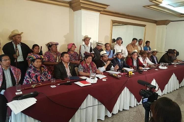 Autoridades indígenas rechazan decisión de Jimmy Morales sobre la Cicig