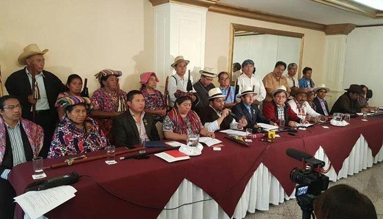 Las autoridades indígenas dijeron que la no renovación de la Cicig es una estrategia de las mafias y corruptelas. (Foto: Hemeroteca PL)
