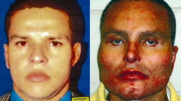 """""""Chupeta"""" declaró en contra de """"El Chapo"""" con el objetivo de reducir su propia sentencia (en las fotos, antes y después de sus cirugías plásticas). GETTY IMAGES"""