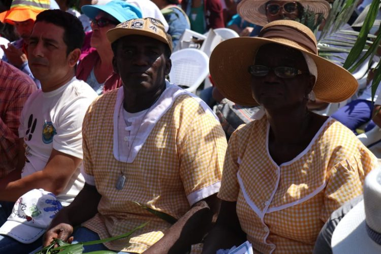 El pueblo izabalense se hizo presente, en esta área del país predomina la cultura garífuna.
