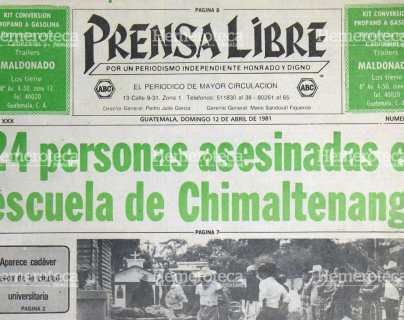 1981: Masacre en Chimaltenango