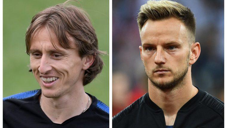 Modric y Rakitic, son las figuras de Croacia. (Foto Prensa Libre: AFP)