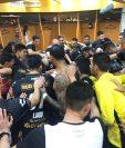 Los jugadores de Dorados festejaron su pase a semifinales y ahora piensan en Juárez. (Foto Prensa Libre: Dorados de Sinaloa)