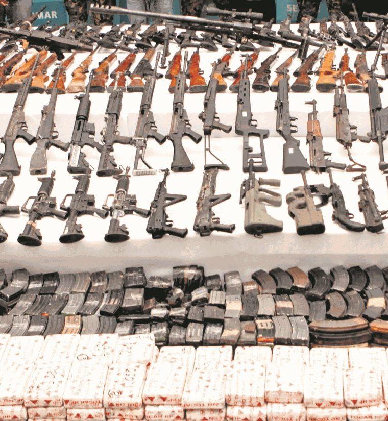 La operación Rápido y Furioso, montada en EE. UU. en 2010, consistió en el trasiego hacia México de armas previamente marcadas, que pudieran rastrear al crimen organizado. (Foto Prensa Libre: Hemeroteca PL)