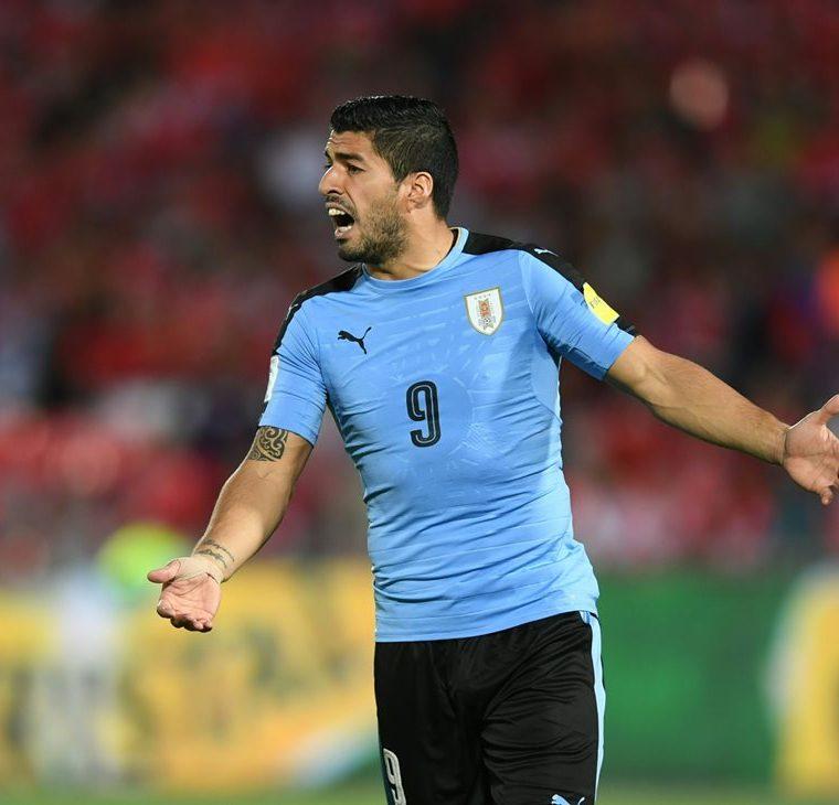 Luis Suárez es el goleador histórico de la selección de Uruguay con 45 goles. (Foto Prensa Libre: Hemeroteca PL)