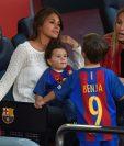 Antonella observó desde el palco del Camp Nou el partido contra el Villarreal. (Foto Prensa Libre: AFP)