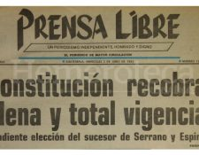 Titular de Prensa Libre del 2 de junio de 1993. (Foto: Hemeroteca PL)