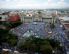En el 2015 se registró el mayor movimiento contra la corrupción en Guatemala, luego de que la Cicig destapó una trama contra el entonces presidente Otto Pérez Molina. (Foto Prensa Libre: Hemeroteca PL)