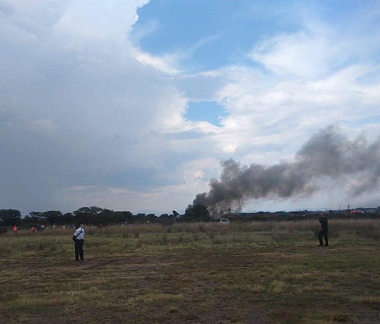 Panorámica del accidente. (Foto Prensa Libre: EFE)