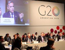 Diferentes discusiones se efectúan durante la reunión de ministros de Finanzas del G20 este domingo en Argentina. (Foto, Prensa Libre: Efe).