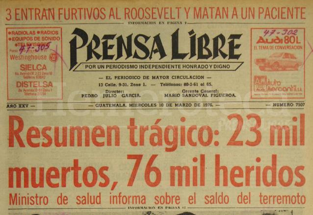 Terremoto de 1976: el resumen trágico día en Guatemala