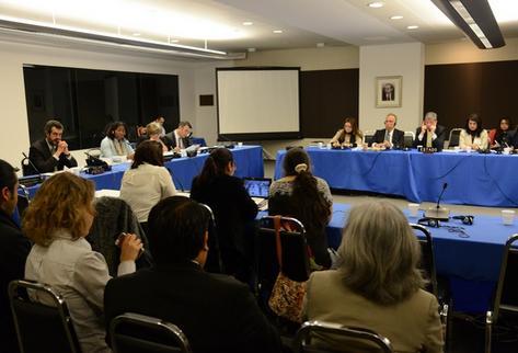 Audiencia sobre sobre militarización en Guatemala ante la CIDH. (Foto Prensa Libre: CIDH)