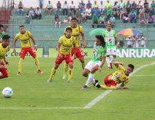 Antigua GFC rescata un punto contra Deportivo Marquense. (Foto Prensa Libre: Renato Melgar).