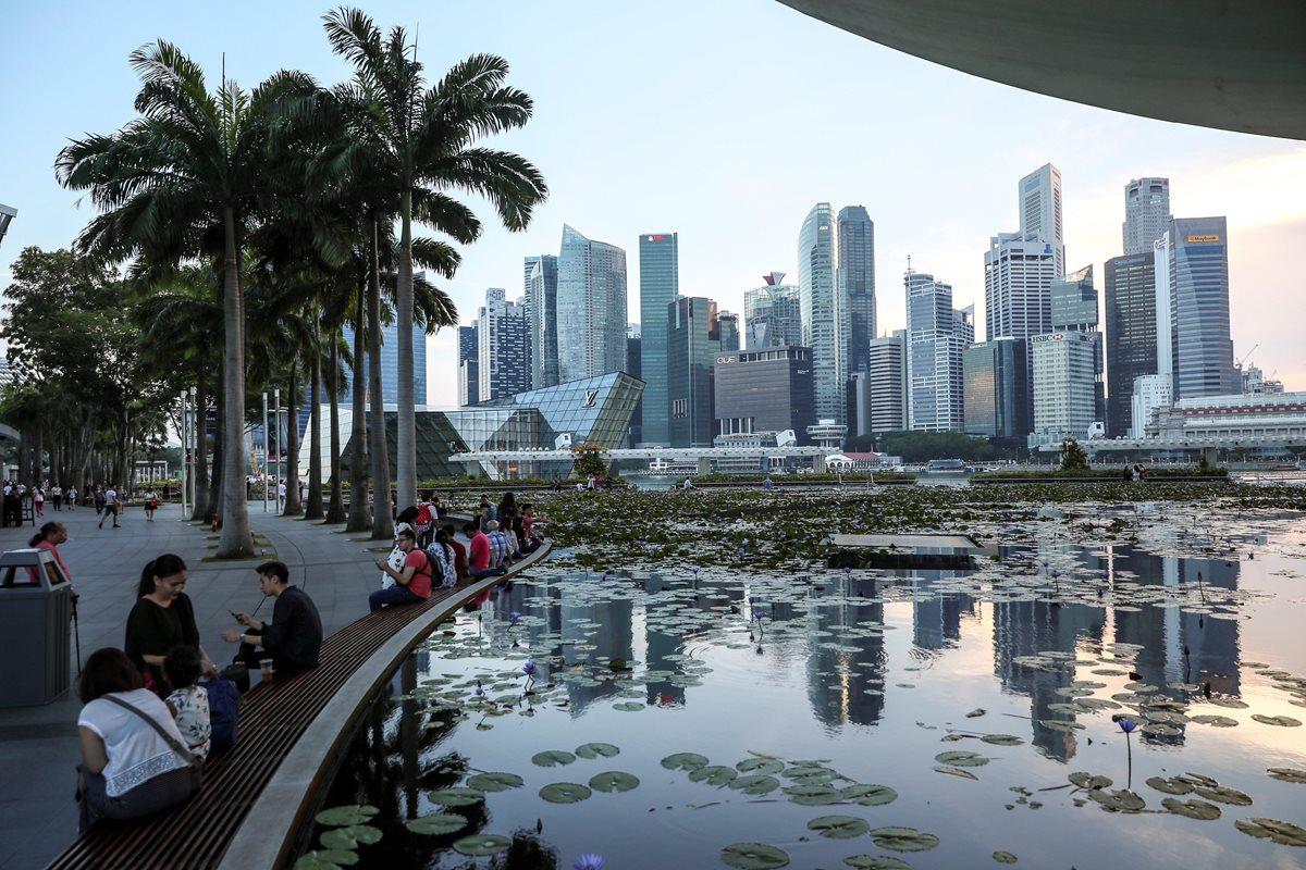 El distrito financiero de Singapur donde el presidente estadounidense, Donald J. Trump, y el líder norcoreano, Kim Jong-un, se reunirán.(EFE).