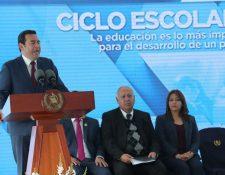 """Jimmy Morales habló sobre el """"sueño guatemalteco"""". (Foto Prensa Libre: Estuardo Paredes)"""