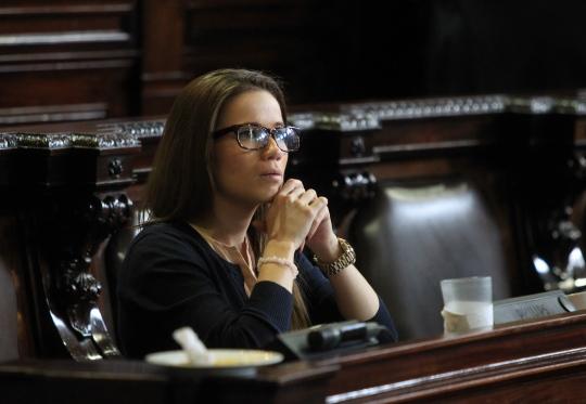 Daniela Beltranena asumió la curul en sustitución de Pedro Muadi. (Foto Prensa Libre: Hemeroteca PL)
