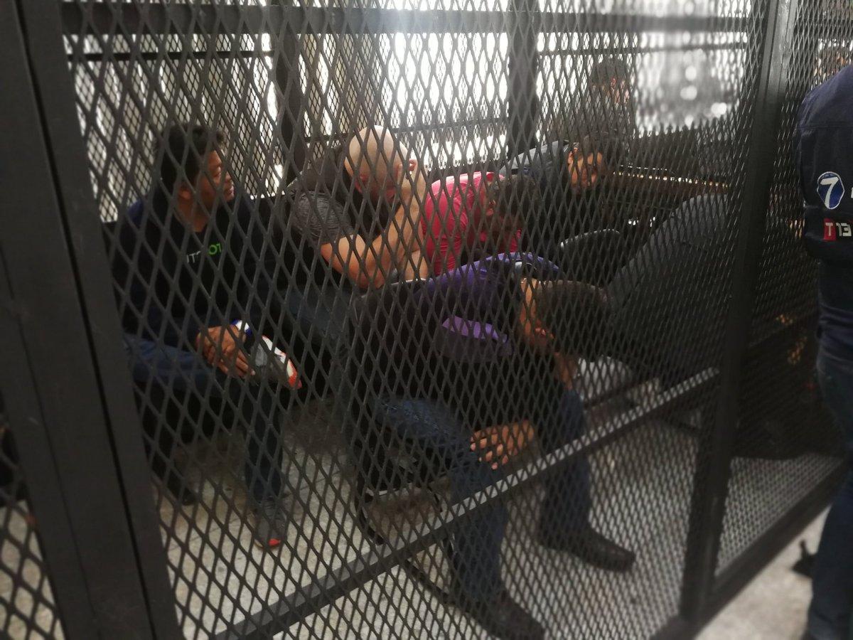 Los seis sindicados en el caso Los Huista. (Foto Prensa Libre: Kenneth Monzón)