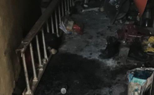Área donde se registró el incendio en la iglesia de Amatitlán. (Foto Prensa Libre: Cortesía).