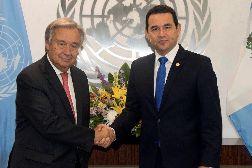 El secretario general de la ONU, António Guterres, reiteró hoy su confianza en el titular de la (Cicig), Iván Velásquez. (Foto Prensa Libre: EFE)