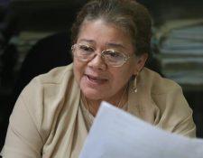 Marta Sierra presidia el juzgado Octavo de Instancia Penal. (Foto Prensa Libre: Hemeroteca PL)