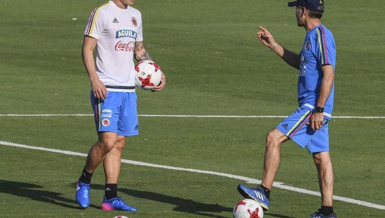 El delantero James Rodríguez de los elementos que pueden aportar a Colombia en esta eliminatoria. (Foto Prensa Libre: AFP)