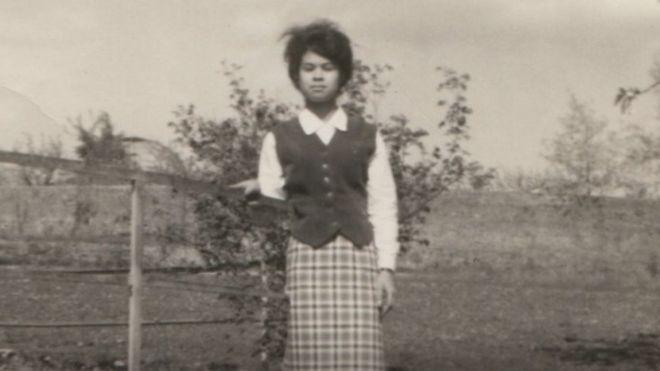 Marlène Morin, robada de Reunión, poco después de su llegada a Francia.
