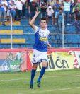 Arce ya suma 9 goles en Liga Nacional y está cumpliendo su promesa de ayudar a Suchitepéquez con goles. (Foto Prensa Libre: Cristian Soto)