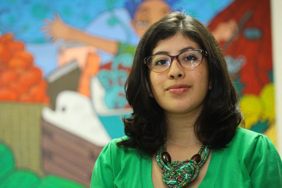 Lenina García es la virtual secretaria general de la Asociación de Estudiantes Universitarios (AEU). (Foto Prensa Libre: Álvaro Interiano).