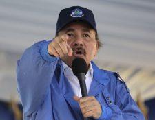 El presidente Daniel Ortega volvió a culpar este miércoles a los opositores de la crisis en Nicaragua. (Foto Prensa Libre: AFP)