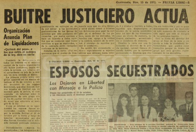 Notas periodísticas de Prensa Libre de 1972. (Foto: Hemeroteca PL)