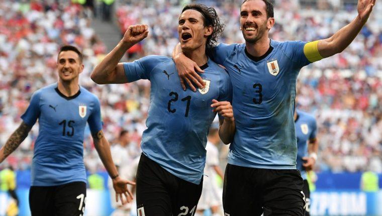 Edinson Cavani selló la goleada en favor de Uruguay contra Rusia. (Foto Prensa Libre: AFP)
