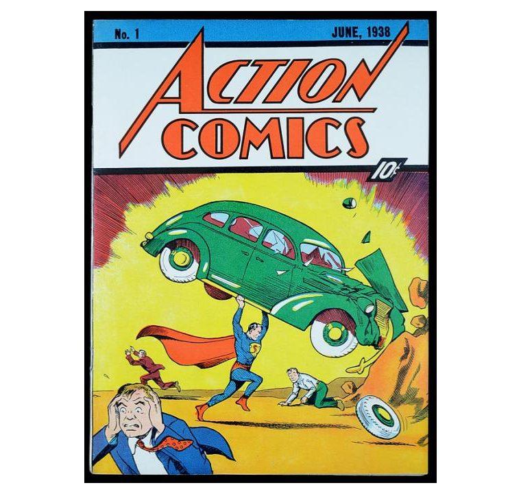 Así se veía la portada del número 1 de Action Comics (Foto Prensa Libre: DC).