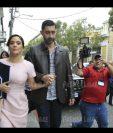 La diputada Stella Alonzo y su pareja, Otto Pérez Leal, abogaron en el Congreso por conservar el bloque del Partido Patriota. (Foto Prensa Libre: C. Hernández)