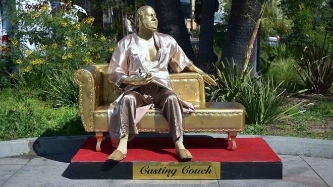 La estatua tomó dos meses para esculpirla y fue pagada con donaciones.AFP