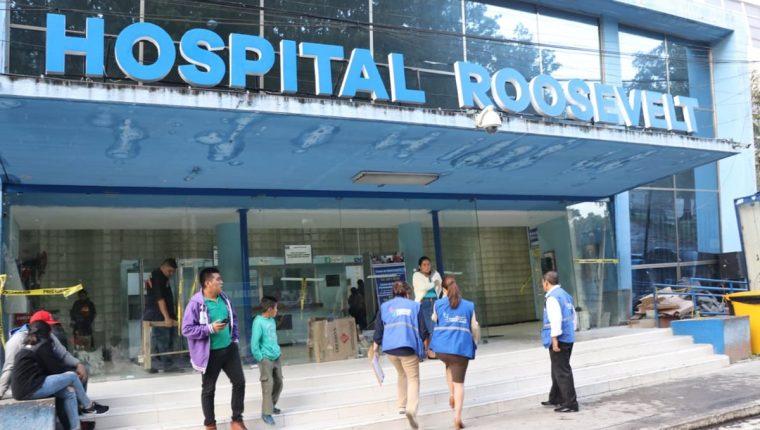 En el monitoreo efectuado por la PDH en el Hospital Roosevelt se evidencio que la atención a los pacientes continúa restringida en la consulta externa. (Foto Prensa Libre: Cortesía PDH)