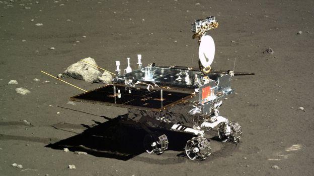 El vehículo de exploración de la misión Chang'e-3 recorrió una parte de la Luna en 2013. CNSA