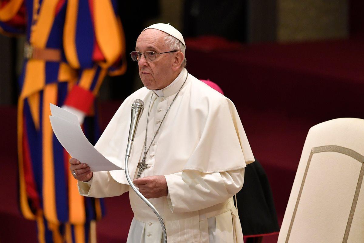 """El papa Francisco advierte sobre el peligro de que se desate una """"nueva espiral de violencia"""" en Jerusalén. (Foto Prensa Libre:AFP)."""