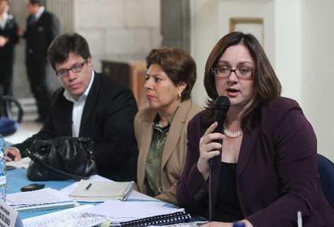 Claudia Del   Águila, viceministra de Economía.