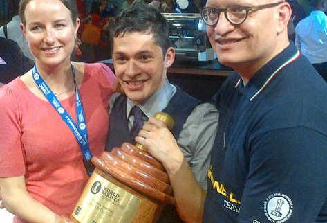 Raúl Rodas, barista guatemalteco ganó el primer lugar del  World Barista Championship (WBC) en Viena, Austria (Foto: PrensaLibre.CortesíaAnacafé)