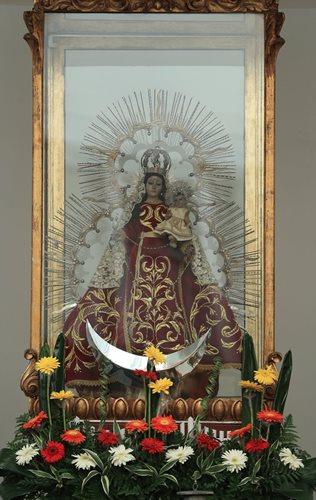 Virgen de Morenos de la Parroquia Santo Domingo de Guzmán. (Foto Prensa Libre: Carlos Hernández)
