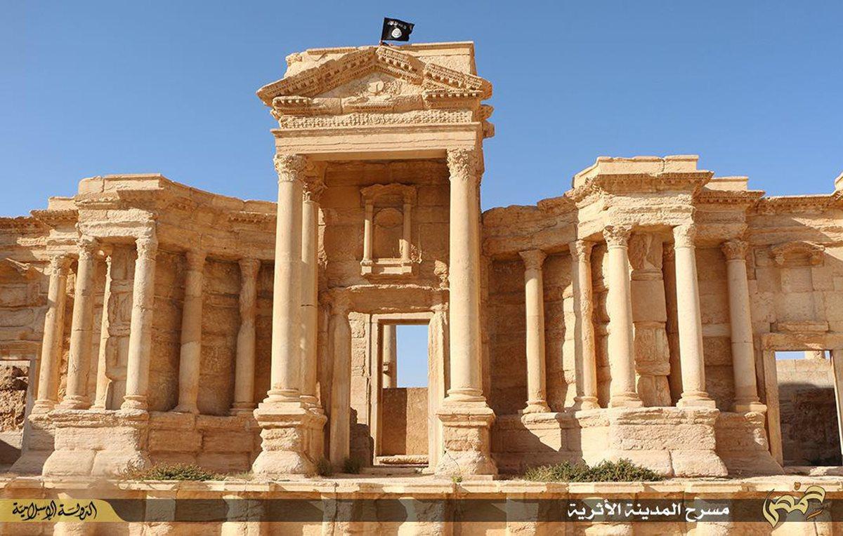 <em>La riqueza cultural y arquitectónica de Palmira está amenazada por terroristas del EI. (Foto Prensa Libre: AFP).</em>