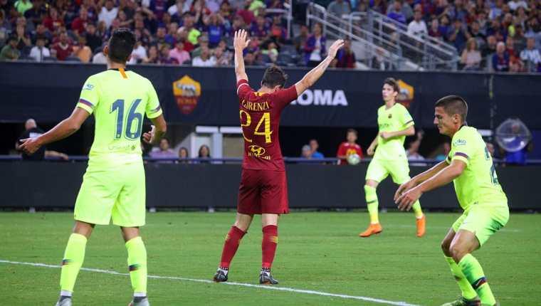 La Roma superó a un Barcelona sin Lionel Messi. (Foto Prensa Libre: AFP)