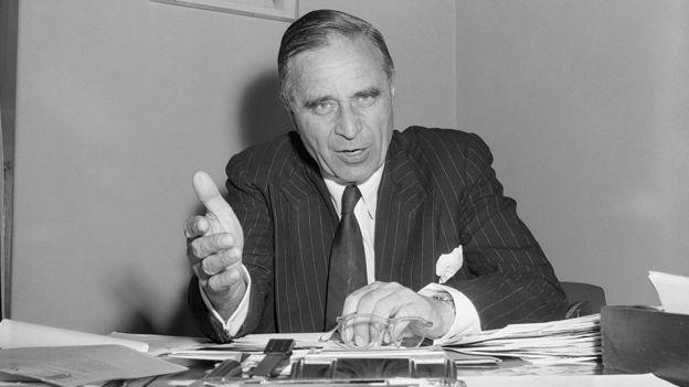 Prescott Sheldon Bush, padre de George H. W. Bush, fue senador de Estados Unidos por el partido republicano. GETTY IMAGES