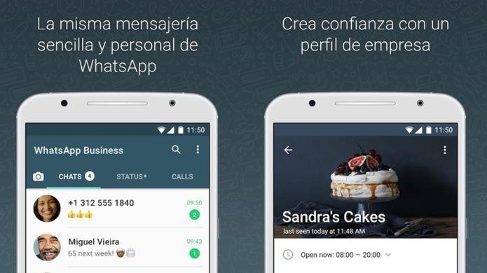 A través de la aplicación las compañías pueden crear perfiles de empresa y enviar mensajes a sus clientes. (WhatsApp).
