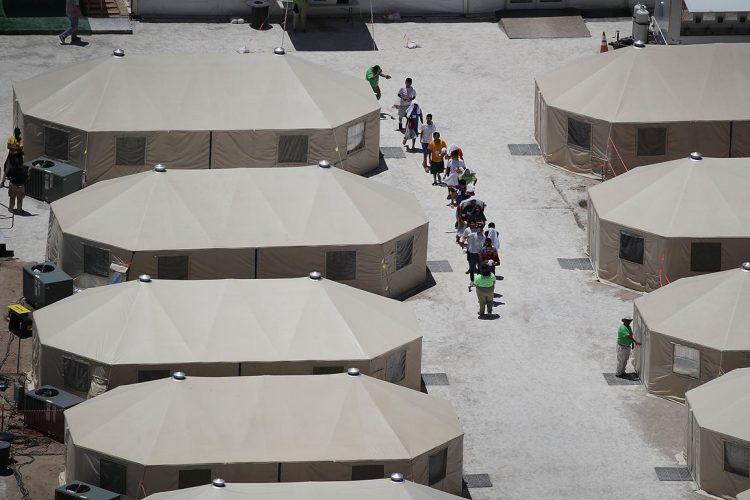 El campamento queda ubicado en Tornillo, Texas.