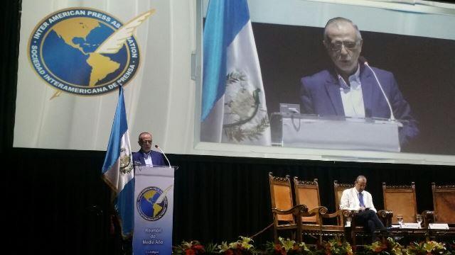 El titular de la Cicig, Iván Velásquez, participó en la reunión de medio año de la SIP, desarrollada en Antigua Guatemala y que culmina hoy. (Foto Prensa Libre: Jessica Gramajo)