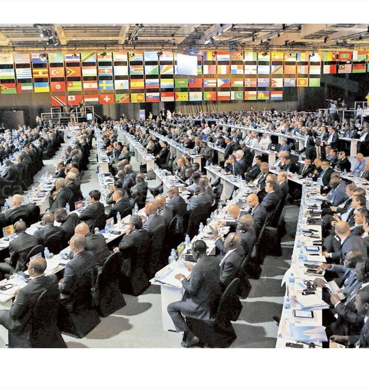 Durante el  67 Congreso de la Fifa  en Baréin, la máxima entidad del balompié mundial ratifica la suspensión para Guatemala, el 11/5/2017. (Foto: Hemeroteca PL)