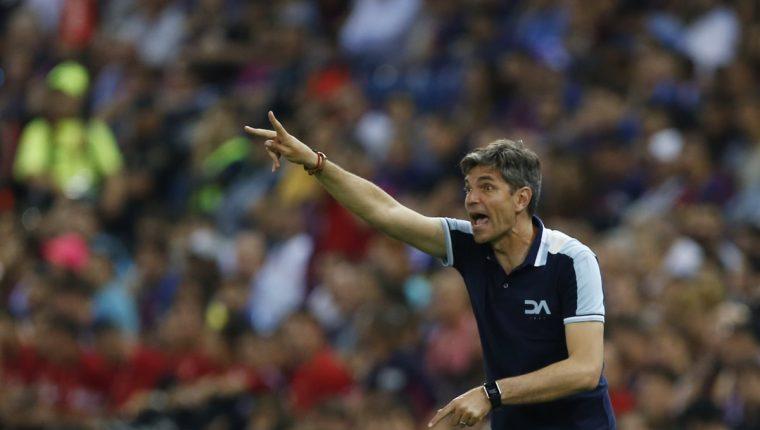 Mauricio Pellegrino dirigió al Alavés por última vez en la Copa del Rey. (Foto Prensa Libre: AP)