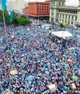 Miles de guatemaltecos se concentraron durante 20 sábados en la Plaza de la Constitución para rechazar la corrupción.